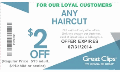 photograph about Great Clips Printable Coupons identify Coupon codes superior clips hair salon / Kohls in just retailer printable
