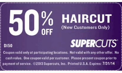 Supercuts coupon march 2018