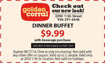 Golden corral coupons january 2018