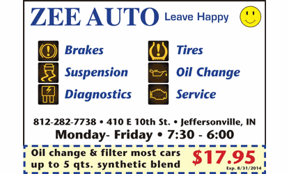 oil change coupons jeffersonville in
