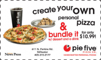 PieFive pizza