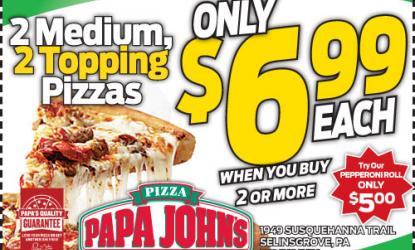Papa johns coupons altoona pa