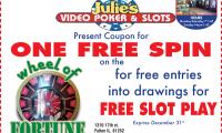 Julies Video Poker