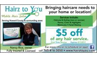 Hairz To You Mobile Hair Salon