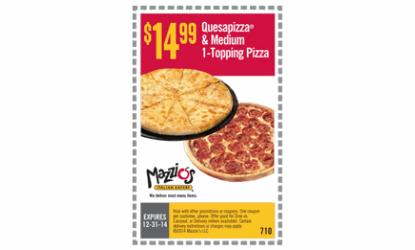 Mazzios coupon code