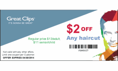 image relating to Sports Clips Coupon Printable named Fiesta salon haircut coupon : Groupon promotions bradenton fl