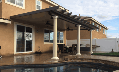FREE fan and light installed on patio covers over 200 sq. ft. - KM Patio Covers Coupon Inland Empire CA Outdoors Home