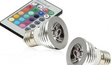 MIles & Co-$19 for 2 Pack: Magic Lighting 3W LED Light Bulb and Remote