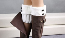 MIles & Co-$15 for Fashionable Buttoned Boot Cuffs - 4 Colors