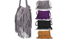 Gifts and Needs-$22 for Trendy Fringe Shoulder Bag with Braided Handle - 6 Colors