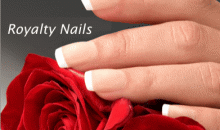 Royalty Nails-Acrylic Nails with Options for Pink and White, Fills & Pedicures