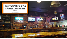 Bucketheads Sports Bar and Grill-Bucketheads Bar & Grill in Rhinelander get a $15 Certificate for $7.50