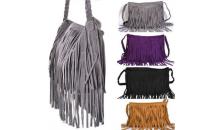 Deal Current-$22 for Trendy Fringe Shoulder Bag with Braided Handle - 6 Colors