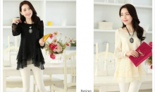 Deal Current-$23 for Juniors' Crochet Style Elegant Floral Laced Blouse - 4 Colors - Shipping Included