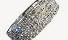 Deal Current SM-$12 FOR AA AUSTRIAN CRYSTAL FIVE ROW STRETCHABLE BRACELET