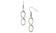 Deal Current S M -$11 for  Classic Infinity Shape Dangling Earrings (SDE152)