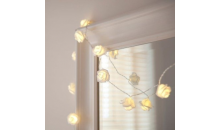 Deal Current-$16 for LED White Rose Fairy Lights (20pc)