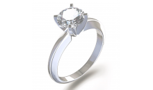 Deal Current S M -$10 for 2CT. BRILIANT CUT AAA 8MM SOLITAIRE CUBIC ZIRCONIA RING - Silver or Gold Tone