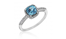 Deal Current SM -$11 for March Birthstone w/ Austrian Crystall  AAA Chusion Cut Ring
