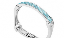 Deal Current S M-$14 for DESIGNER TRI FOLD AAA AUSTRIAN CRYSTAL BANGLE
