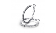 Deal Current S M -$12 for Hoop Earrings with AAA Austrian Crystal (SDE069)