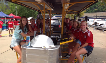 Pedal Power Tours-Ride the Pedal Power Tour Trolley at 52% off! $50 cert good for 2 only $23.99! (Weekday only)
