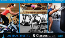 Armone's Core Connection-5 Classes - Your Choice of Pilates Reformer, Booty Bar & More!