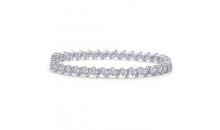 Deal Current S M -$14 for 3MM AAA ROUND  CUT  CZ TENNIS BRACELET (SDB150)