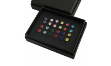 Deal Current S M -$33 for 12 Pair Bundle of 6mm Crystal Stud Earrings