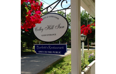 Colby Hill Inn-It's Time To Relax!  Friday Night Outdoor Wine & Cheese Hour At Colby Hill Inn!