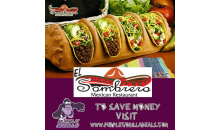 El Sombrero-$25 FOR $50 WORTH OF FOOD AND DRINK. TEXT TACO1 TO 90407 FOR A FREE TACO