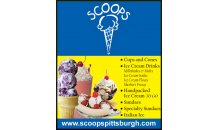 Scoops Ice Cream-Half off deal at Scoops Ice Cream! Your Neighborhood Ice Cream Parlor- 3 Convenient Locations!
