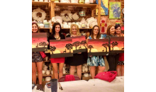 Kiln-N-Time-Half off BYOB Canvas Painting for 4 at Kiln-N-Time in Lawrenceville!