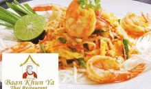 Baan Khun Ya-$20 of Food and Drinks at Baan Kuhn Ya Thai Restaurant  for only $10!