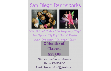 San Diego Danceworks-$55 for Two Months of Dance Classes at San Diego Danceworks