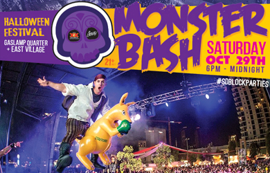 Monster Bash-Tickets to San Diego's Premiere Halloween Block Party, Monster Bash, for only $30 Each ($60 Value)