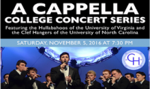 Sandler Center for Performing Arts-College A Cappella Concert featuring the Hullabahoos and the Clef Hangers
