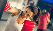 9 Round Boxing-66% OFF Kickboxing Circuit Training- Burn up to 500 calories in 30 Minutes