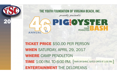 Coastal Virginia Marketing-YSC's 46th Annual Pig & Oyster Bash - aka