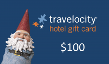 Sold By Travelocity Hotel Gift Cards -$49 for a $100 Travelocity Gift Card to Spend at Over 70,000 Hotels