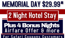 GSGI-Enjoy a 3 Day ~ 2 Night Hotel Stay, Plus Bonus